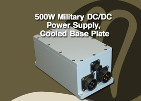 500W Military DC/DC Power Supply, Cooled Base Plate